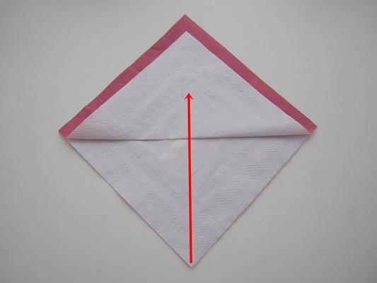 ペーパーナプキンの折り方