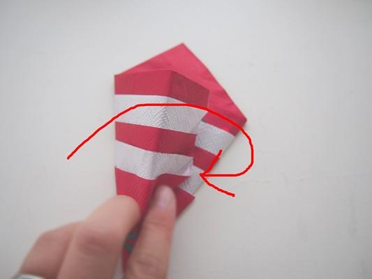 ペーパーナプキン折り方