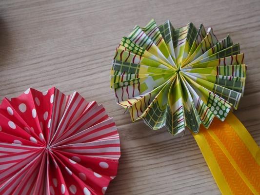 折り紙ロゼット