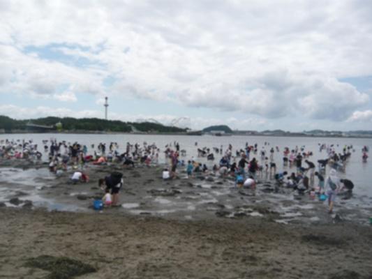 海の公園潮干狩りゴールデンウィーク
