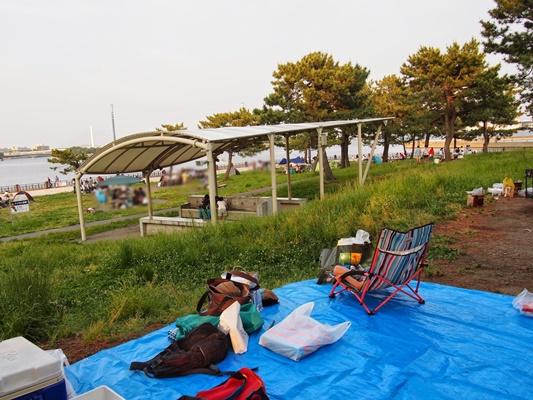 海の公園バーベキュー