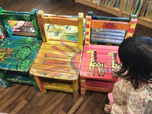 中央図書館 こども椅子
