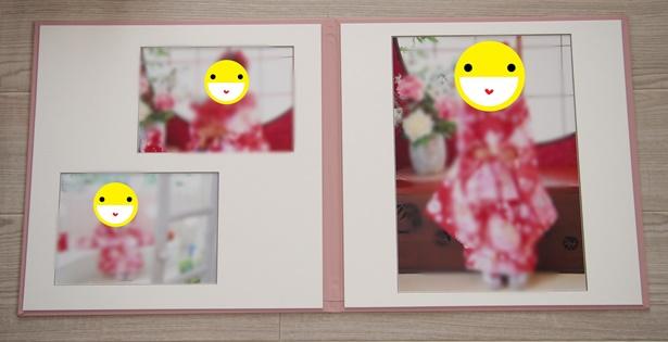 自作の写真台紙完成