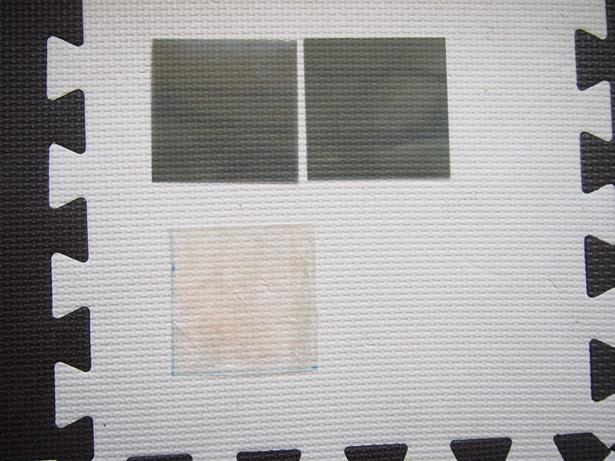 偏光板とプラ板